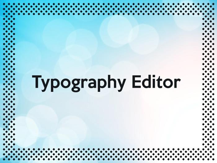 Darmowy program graficzny – Typography Editor