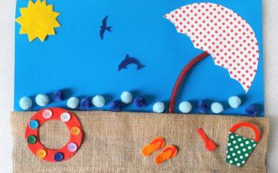 Żegnaj lato – plastyczne zabawy z fakturą
