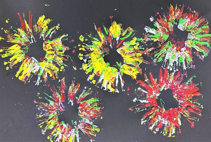 Fajerwerki - praca plastyczna