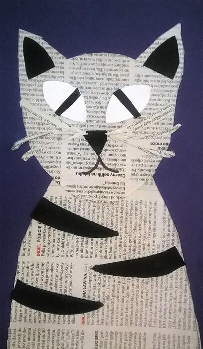 Kot z gazety