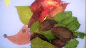 jesienna praca - jeż