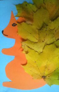 Jesienna wiewiórka