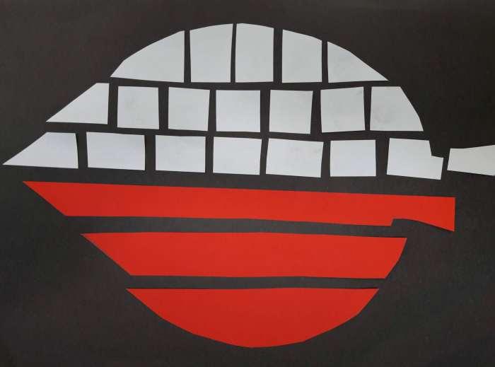 Biało-czerwona mozaika-wykonanie