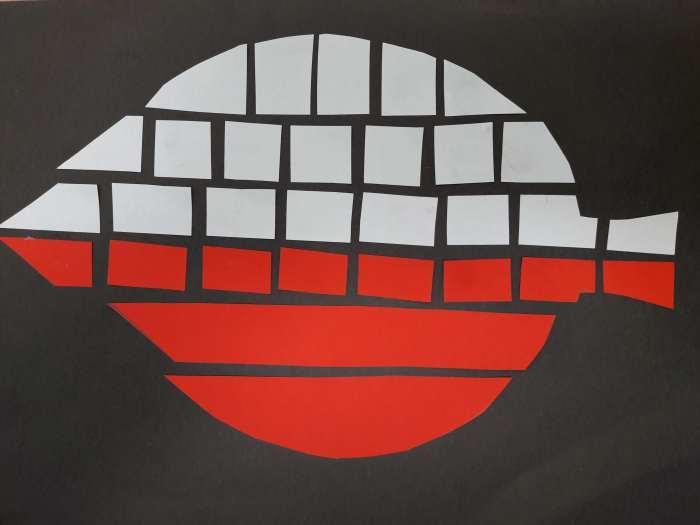Biało-czerwona mozaika-sposób wykonania