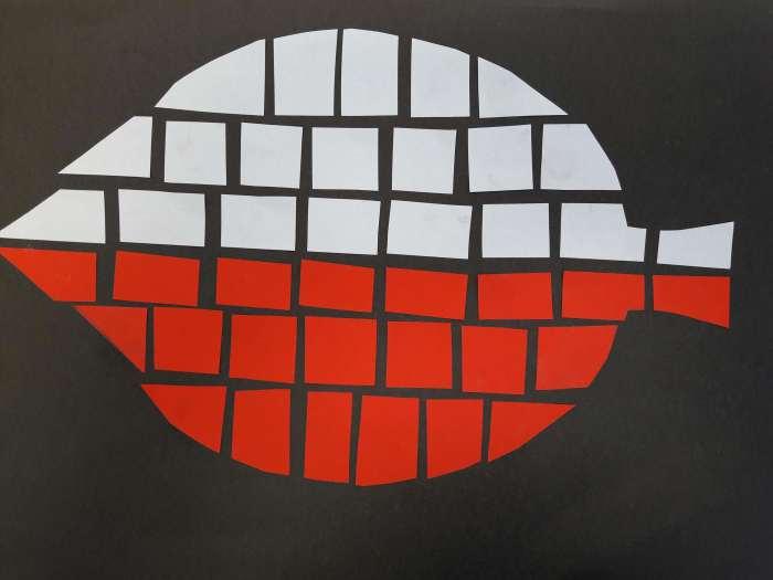Biało-czerwona mozaika