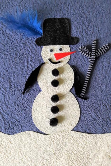 bałwanek - zimowa praca plastyczna