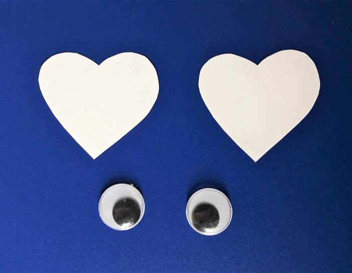 Praca plastyczna nawalentynki - oczy kota