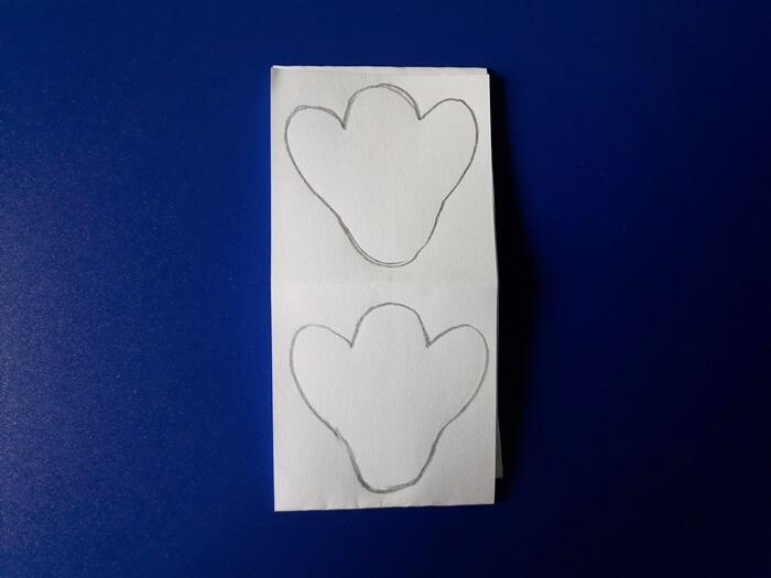 Przebiśniegi zpapieru - główki kwiatków