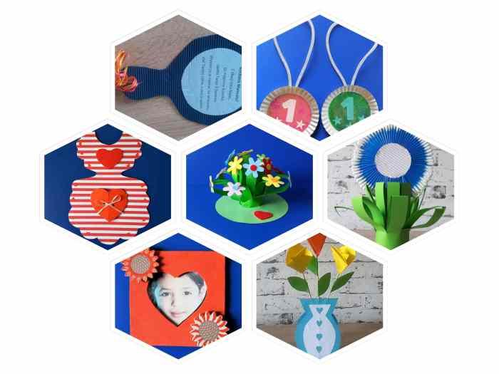 Pomoce edukacyjne - Dzień Matki - prace plastyczne