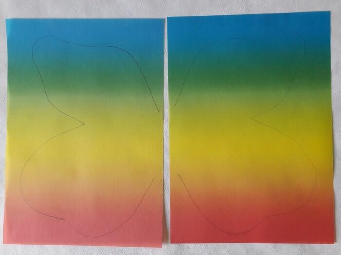 Motyl-witraż zpapieru - wzór napapierze witrażowym