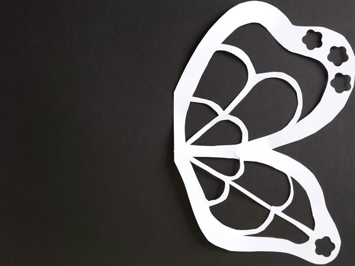 Motyl-witraż zpapieru-szablon