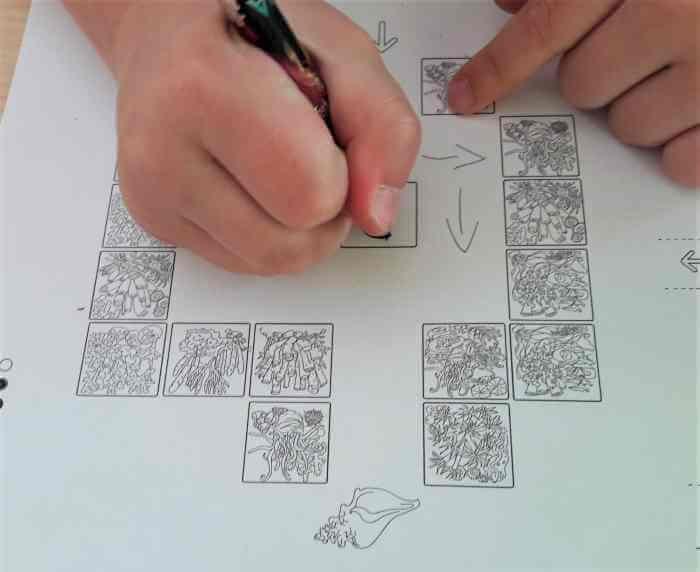 Klucz do programowania dla dzieci - karta pracy.