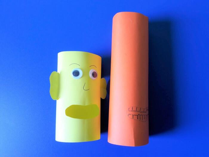 Ludzik z papieru - składanie rolek