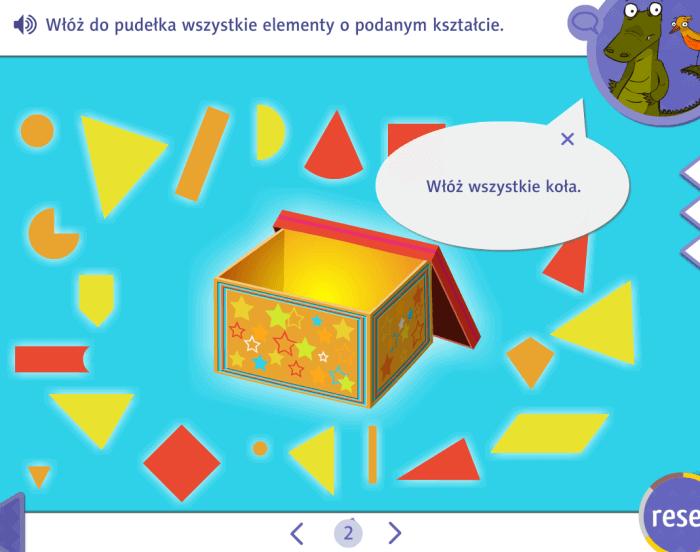 Zabawy interaktywne - figury geometryczne