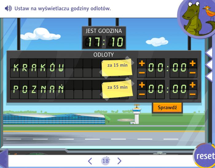 Zabawy interaktywne - godziny