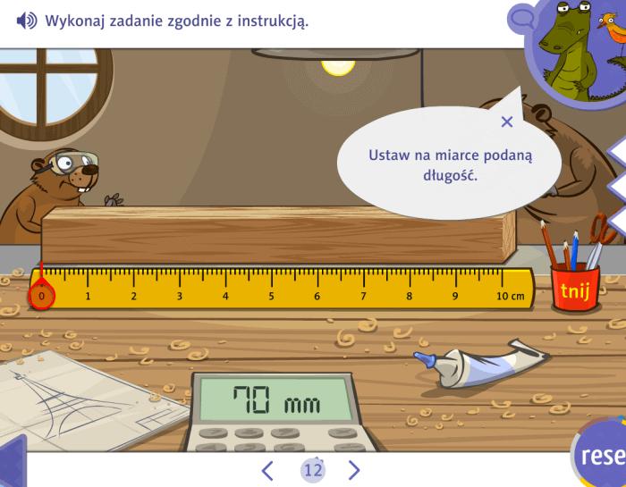 Zabawy interaktywne - mierzenie