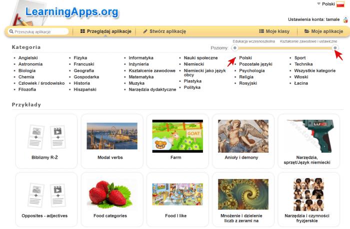 Multimedialne pomoce dydaktyczne-przeglądaj aplikacje