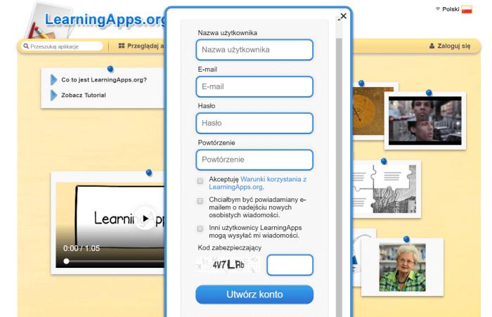 LearningApps-rejestracja