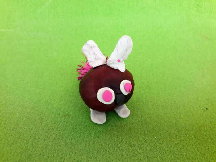 kasztanowe zwierzątka-króliczek