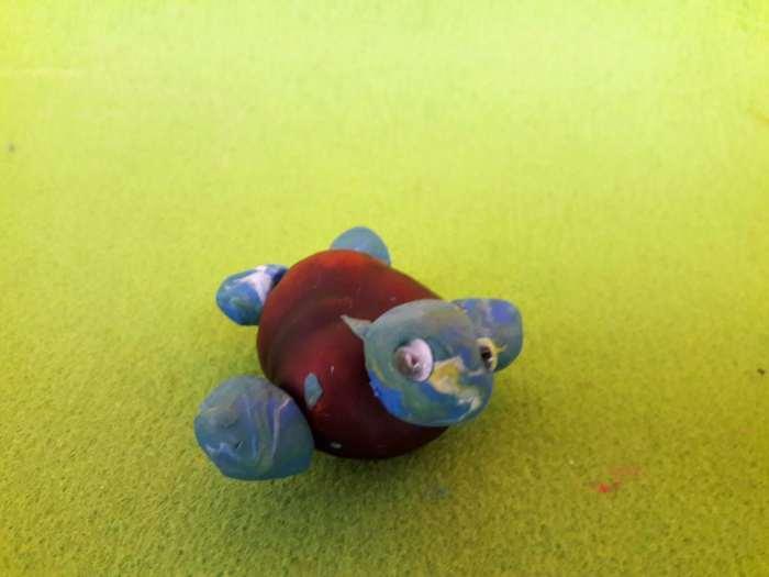 kasztanowe zwierzątka-żółw