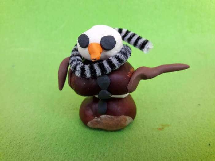 kasztanowe zwierzątka-ptak