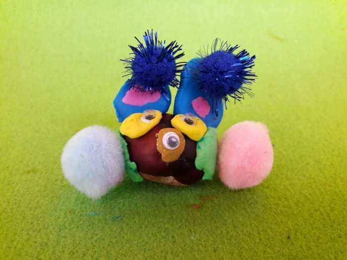 kasztanowe zwierzątka-zajączek