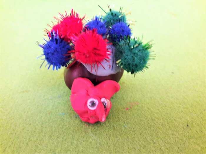 kasztanowe zwierzątka-ślimak
