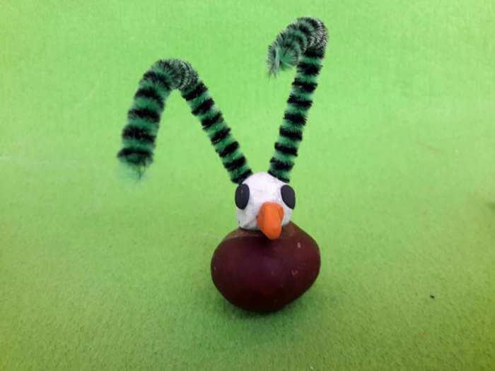 kasztanowe zwierzątka-struś