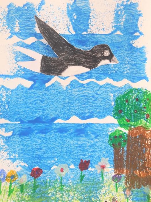 Jesienne odloty ptaków-galeria prac