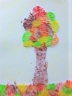 Jesienne drzewo-pastele