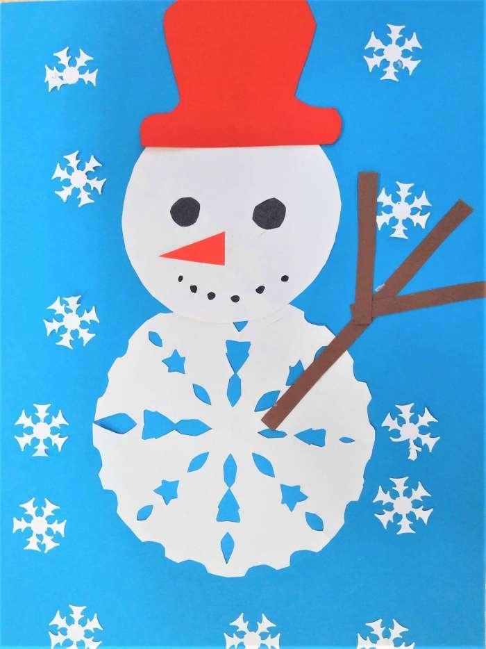 Śniegowy bałwanek