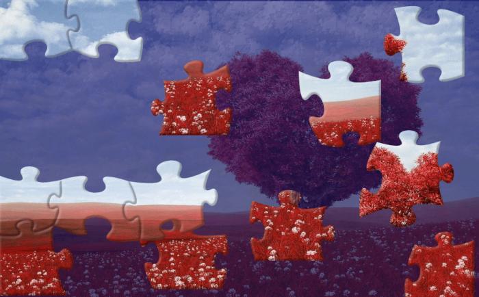 Walentynkowe puzzle