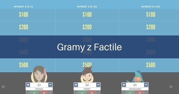 Factile – Va Banque wedukacji