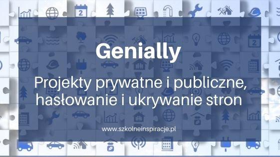 Projekty prywatne ipubliczne wGenially